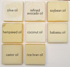 Single Oil Soaps - Learning Saponified Properties of Soapmaking Oils