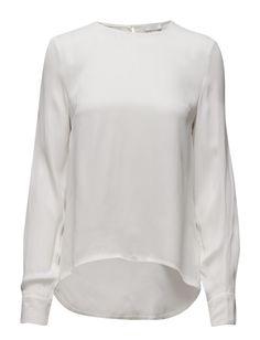 DAY - Miira Keyhole button closure Longer in back White Day, Sweatshirts, Sweaters, Closure, Shopping, Button, Summer, Fashion, Moda
