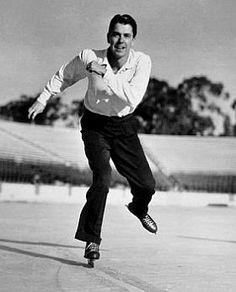 Ronald Reagan ice skating