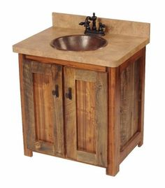 love this for a rustic bath