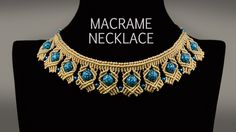 Beaded Macramé Necklace TUTORIAL in Boho Style | DIY