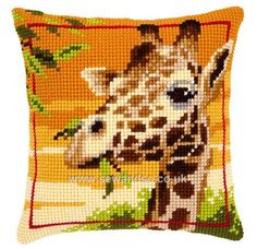 Buy Giraffe Cushion Front Cross Stitch Kit Online at www.sewandso.co.uk