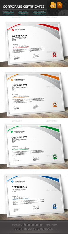 Certificate Certificate templates and Ai illustrator - corporate certificate template
