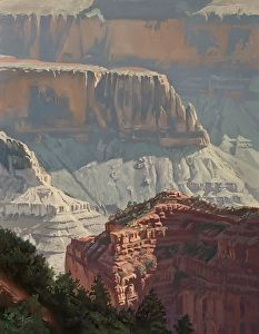 """Into the Canyon by Dennis Farris Oil ~ 18"""" x 14"""""""