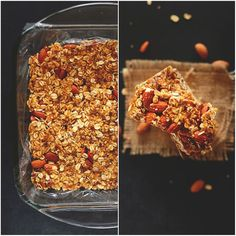 5 Ingredient Granola Bars | Minimalist Baker