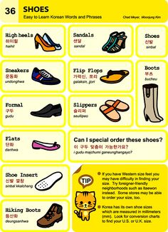 Learn Korean - Shoes