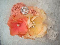 Coral Baby Flower Headband Baby Heaeadband by lepetitejardin, $24.95