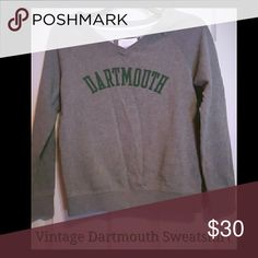 Vintage Women's Dartmouth Sweatshirt Size Small Smoke free home  Cozy lightweight and perfect with yoga pants Wide V-Neck Heather Grey and Hunter Green  Dartmouth College Alum Tops Sweatshirts & Hoodies