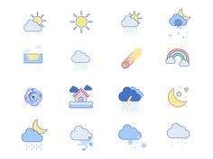 Discover 45 Weather Animated Icon Set! Perfect for any weather condition! Visit flat-icons.com for more inspiring vector and animated icon sets. #flaticons #GIF #AnimatedGIF #weathericons #animatedweathericons #weatherpredictions Flat Design Icons, Flat Icons, Icon Design, Weather Gif, Weather Icons, Animated Icons, Animated Gif, Weather Predictions, Drink Icon