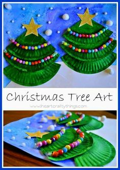 Cute paper plates in thirds. Color, glue, and decorate!