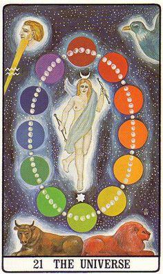 The Universe (The World) - Golden Dawn Tarot
