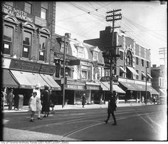 Another shot with the Wiancko Brothers store! Toronto City, Old Pictures, Montreal, Photographs, Photos, City Photo, The Neighbourhood, Past, Street View