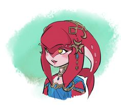 I think her name was Misha?? I'm not sure, I just got to Zora's domain... Art by l-a-l-o-u