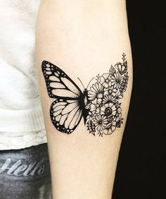 most beautiful butterfly tattoo ideas for everyone - Jessica Pins - beautiful . - most beautiful butterfly tattoo ideas for everyone – Jessica Pins – most beautiful … - Monarch Butterfly Tattoo, Butterfly With Flowers Tattoo, Butterfly Tattoo On Shoulder, Butterfly Tattoo Designs, Shoulder Tattoo, Butterfly Symbolism, Simple Butterfly, Flower Mandala, Weird Tattoos