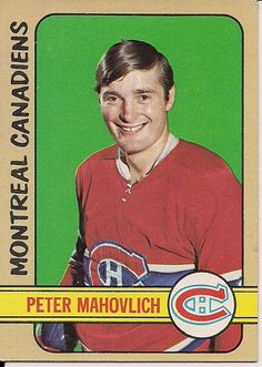Info on the hockey career and the Topps and O-Pee-Chee hockey cards for Pete Mahovlich. Mahovlich was most successful with the Montreal Canadiens. Hockey Teams, Hockey Players, Ice Hockey, Montreal Canadiens, Nhl, Hockey Cards, Baseball Cards, Hockey Hall Of Fame, Old Montreal