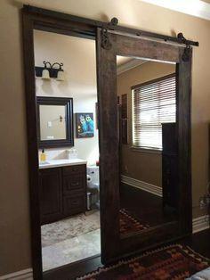 Mirror barn style doors