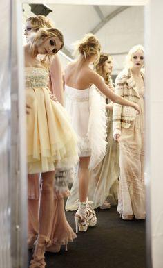 The lovely models Dior behaving like ladies.                              .