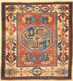 Important Rare Century exemplary Caucasian Rug ( Shirvan Area ) Santa Barbara Design Center The best collectable Caucasian rug