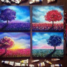 Cool idea for canvas paintings!