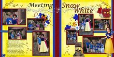 Snow White 2 page layout
