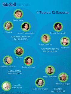 4 Topics. 12 Experts. 1 Incredible Series. Up next? #Blogging 7/13