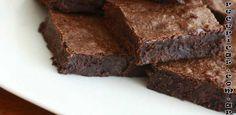 un postre light muy fácil de preparar, se trata de la receta de los Brownies Light
