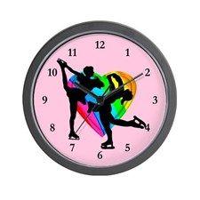FOREVER SKATING Wall Clock Keep motivated looking every day at our Figure Skating clocks.  http://www.cafepress.com/sportsstar/10189550 #Figureskater #IceQueen #Iceskate #Skatinggifts #Iloveskating #Borntoskate #Figureskatinggifts #PersonalizedSkater #Skaterclock