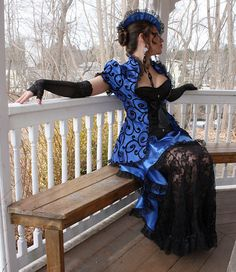 Sweet Temptation Custom Made Victorian Tea Gown by auralynne - Steampunk Steampunk Clothing - Smoked Glass Goggles