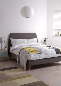 Buy House by John Lewis Jamie Bed Frame, Grey, King Size from our Beds range at John Lewis. Flat Ideas, House Beds, Spare Room, Home Bedroom, Bedroom Ideas, Beautiful Bedrooms, Wood Colors, Home Buying, John Lewis