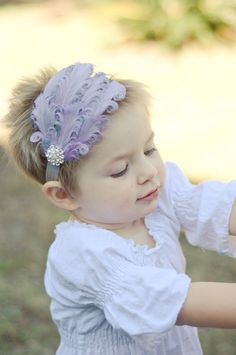 Lavender Lilac and Silver Gray Headband  by SweetheartBoutique, $13.95