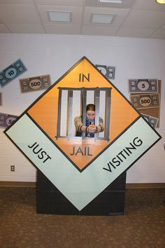 """""""Does anybody have a 'get out of jail for free' card? #monopoly #students #gamenight #gogebic #campus #monopoly"""