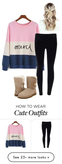 """Cute outfit"" by ivoryvixen on Polyvore featuring moda ve UGG Australia"