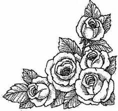 dibujos de ramos de flores para colorear