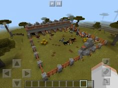 Giant Horse Stable Modern Minecraft Houses, Minecraft Farm, Minecraft Mansion, Minecraft Plans, Minecraft House Designs, Minecraft Construction, Minecraft Blueprints, Minecraft Creations, Minecraft Projects