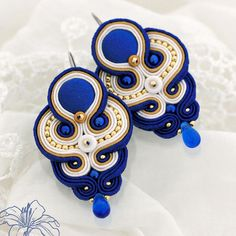 Soutache earrings Felice | author: Zuzana Hampelova Valesova (Lillian Bann) | www.z-art-eshop.cz | http://www.facebook.com/pages/Z-ART/539656212733510