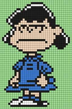 Angry Lucy From Snoopy And The Peanuts Gang Perler Bead Pattern