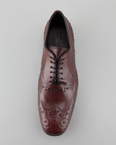Design Revelation: The Wing Tip | Alexander McQueen Reverse-Embossed Lace-Up, Oxblood -