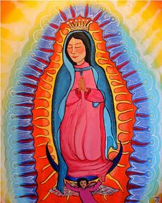 Our Lady of Guadalupe by TJ. Beautiful. This makes my heart happy.