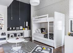 #blackandwhite #kidsbedroom #blackwall #bunkbeds #bedroom | S-M-Liam_006A-LowRes.jpg