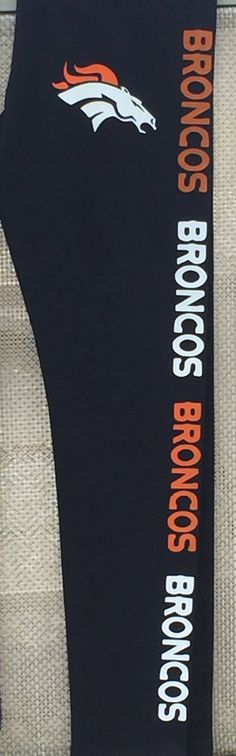 SALE NFL Denver Broncos football womans leggings by CraftsCreativeStudio on Etsy