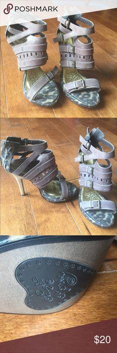 Naughty Monkey heels Size 8 heels by Naughty Monkey.  Zip up the back naughty monkey Shoes Heels
