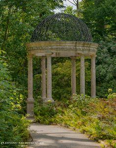 Backside of Italian Water Garden at Longwood