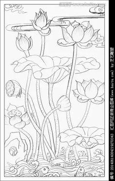 Saree Painting, Kerala Mural Painting, Kalamkari Painting, Lotus Painting, Fabric Painting, Lotus Drawing, Lotus Art, Pichwai Paintings, Indian Art Paintings