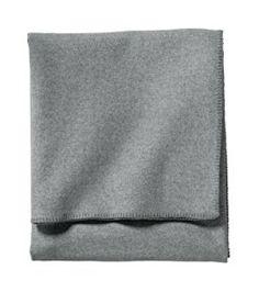 Amazon.com: Pendleton Eco-Wise Easy Care Blanket, Queen, Grey Heather: Home & Kitchen