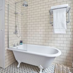 Traditional bathroom with modern elements