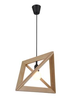 Replica Herr Mandel Wood Lamp Frame Pendant Lamp - Zest Lighting