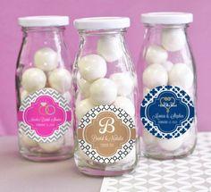 Personalized Wedding Theme Milk Bottles