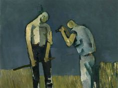 """Keith Vaughan, """"Two figures"""" Modern Artists, Contemporary Artists, John Minton, Glasgow School Of Art, Royal College Of Art, Visual Diary, Male Figure, Figure Painting, Figure Drawing"""