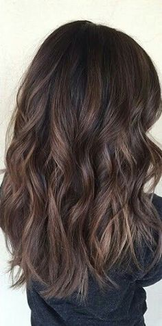 Soft brunette balayage. #wavyhair #balayage #brunette