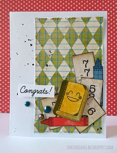 paper piecing and back to school fun #bobunny #cardmaking stamps by @We R Memory Keepers